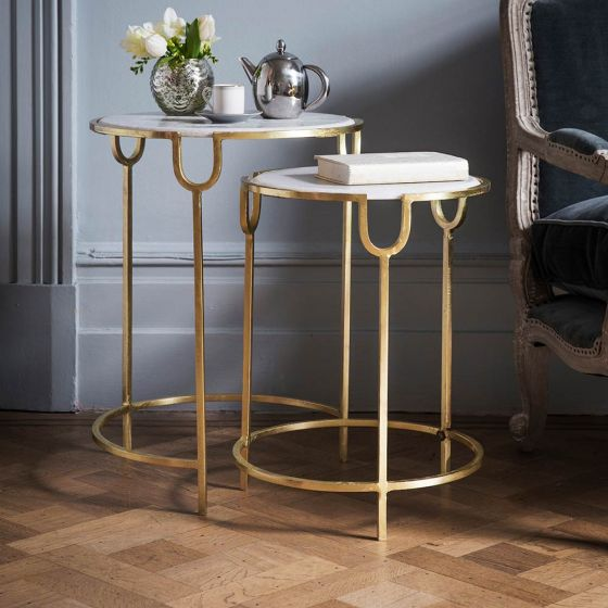 Gatsby Marble Nesting Side Tables