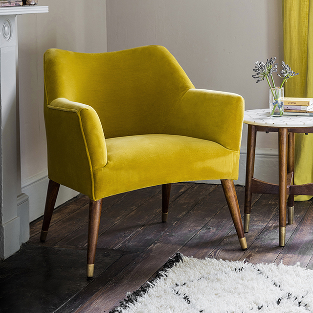 The Archie Green Velvet Armchair