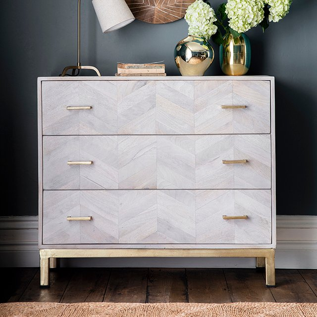 The Chevron Chest of Drawers